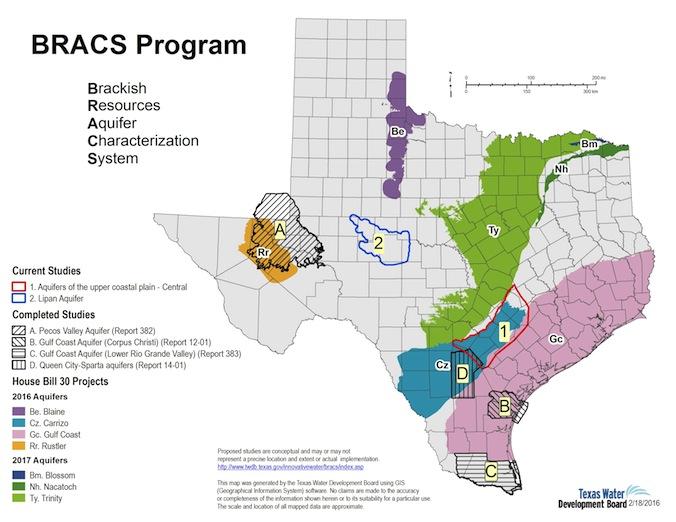 BRACS Program Status Map