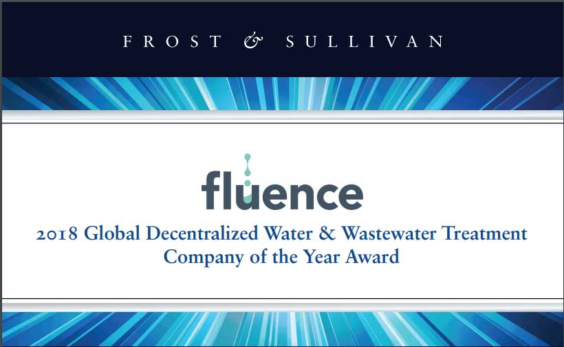 Fluence Named 2018 Global Decentralized Water & Wastewater Treatment Company of the Year