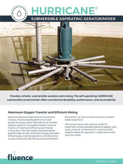 HURRICANE® Submersible Aerator/Mixer