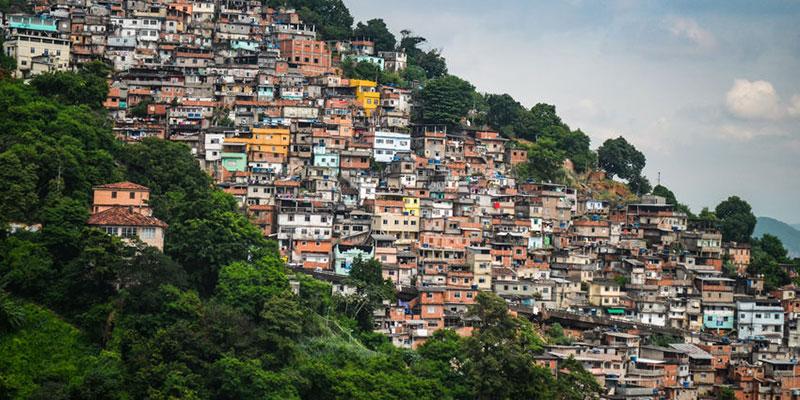 Favelas de Rio de Janeiro, Brasil.