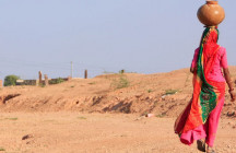 Carrying water in Rajasthan, India