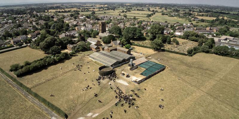 UK Farm Aerial View