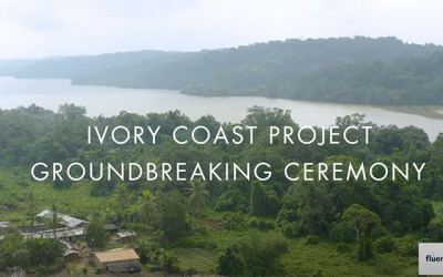 Groundbreaking Ceremony for Fluence's Ivory Coast Water Treatment Project