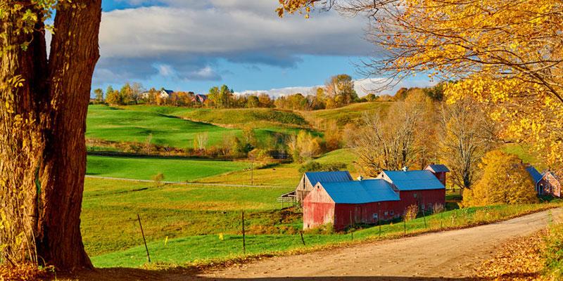 Farm in Rural United States